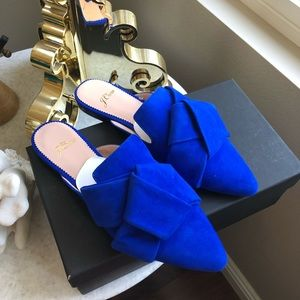 NIB JCrew Pointed Toe Slides Shoes Suede Leather